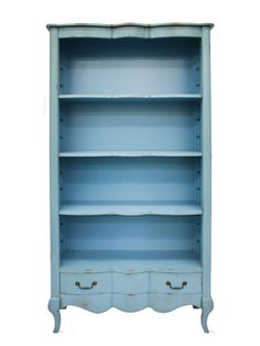 I have just the old dresser to do this!French Rustic Country Bookcase by Fabulous and Baroque on Gilt Home Blue Furniture, Find Furniture, Shabby Chic Furniture, Shabby Chic Decor, Vintage Furniture, Furniture Decor, Painted Furniture, Furniture Refinishing, Distressed Furniture