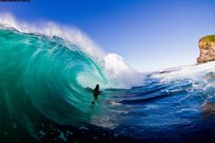 #turquoise #ocean #water #surf #vagues #blue #bleu #kid #young #ride #shore #swell