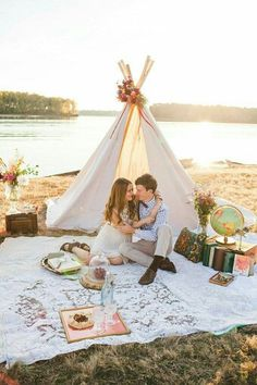 Tent love story romantic decor