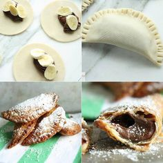 Your new favorite dessert, fried banana Nutella hand pies