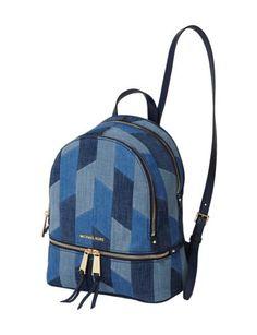 Rucksack aus Jeanspatches Blau / Türkis