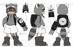 Today I'm getting all packed up and ready to drive up to Dallas tomorrow, so I decided to finish up this reference that was sittin' on my floor. I did The Raccoon before alota the earlier...