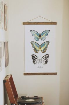 Lepidoptera Butterfly Study Vol. 2 - Introduce nature's painted beauties to your home with this elegant butterfly poster. Inspired by vintage text books and old school charts, these digitally illustrated pieces, with their beautiful watercolor techniques, are sure to leave viewers breathless. www.mooreaseal.com