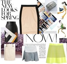 """The New Looks For Spring - Get your leather skirt now"" by ourdesignpages on Polyvore"