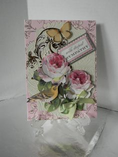 Dimensional Sympathy Card with Envelope by HearthsideHollow