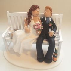 Bride and Groom Wedding Cake Toppers | Totally Toppers.com.   Cute and original.