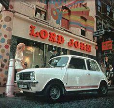 Mini Cooper S MKII de 55 photos couleur de filles & de Clubman ou Countryman Vintage London, Old London, Lord John, Swinging London, Carnaby Street, Mini Clubman, Mini Coopers, Twist And Shout, Morris