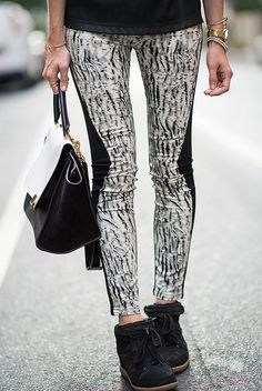 Eat Sleep Wear wears wedged sneakers in New York to ease the dreaded morning commute. Make your mornings a little better with these on feet and iced coffee in hand. Shop more inspiration on eBay.