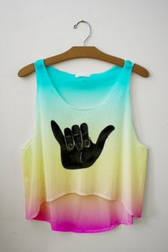 Hang loose tank top