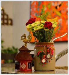 use pickle jar/bharani as a vase
