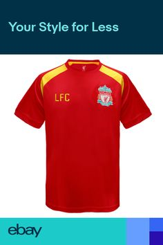 553132a35 Liverpool FC Official Football Gift Boys Poly Training Kit T-Shirt