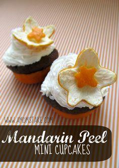 Mandarin Peel Mini Cupcakes Recipe @Halos Fun #HalosFun #spon #Cupcakes