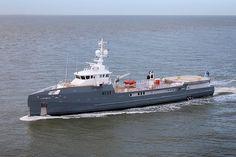 Damen-built Fast Yacht Support vessel 6711 completes sea trials - Deliveries - SuperyachtTimes.com