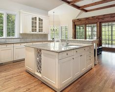gray-granite-and-white-cabinet-kitchen-island-ideas