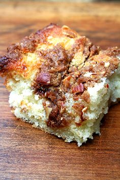 Best Coffee Cake Ever; Buttermilk, Almonds, Cinnamon, Brown Sugar & Other Goodies. This recipe is a keeper for when visitors stop in!