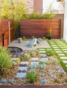 48 Creative Backyard Rock Garden Ideas to Try Modern garden design Small Backyard Gardens, Small Backyard Landscaping, Backyard Garden Design, Landscaping With Rocks, Modern Landscaping, Small Gardens, Landscaping Ideas, Backyard Ideas, Modern Backyard