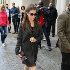 Anne Kendrick arrives at BBC Radio One studios in London