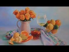 """Bodegón al óleo - """"Pintando con tres colores + blanco"""".- nº 7 - YouTube"""