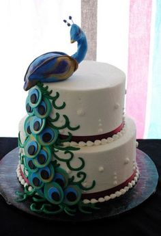 Peacock wedding cake (Webneel Daily Graphics Inspiration 550 - Most Inspired Graphics around the web). Follow us www.pinterest.com/webneel