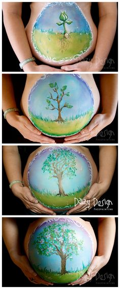 We have someone to do this kind of belly art for our clients at the MamaBaby Center. <3 it!!