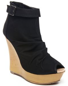 DrJays.com - Detailed Images of Lany Peep Toe Wedge by Fashion Lab