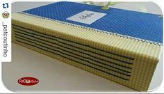 Caderno personalizado para a Safira ♡ costura manual borboleta ♡ www.patcoutinho.com.br