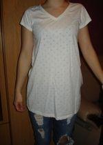 Biała bluzeczka krótki rękaw, serduszka