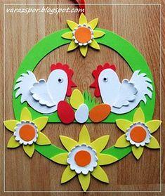 Varázspor: Wielkanoc drzwi wystrój dekorgumiból