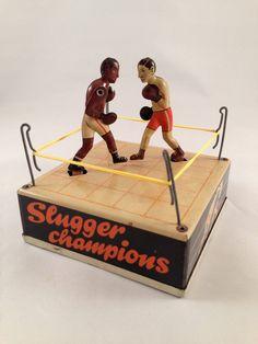 Vintage Boxing WindUp Tin Toy