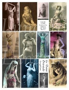 La Danse Orientale digital collage sheet from Lunagirl.com
