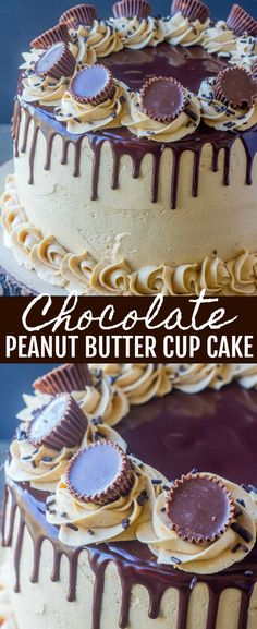 Chocolate Peanut Butter Cup Cake {Peanut Butter Chocolate Heaven} cake/peanut butter/chocolate Layers of chocolate and peanut butter make this Chocolate Peanut Butter Cup Cake a seriously tasty indulgent cake, perfect for any occasion! via @amiller1119