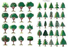 Desenho do Dia #171 - Árvores: folha de cola - Soraia Casal