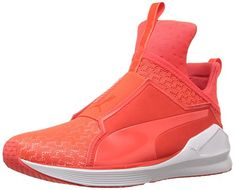 478272b3cee PUMA Womens Fierce Eng Mesh Women s Fitness and Cross-Training ShoesTrainer  Shoe Red BlastPuma White