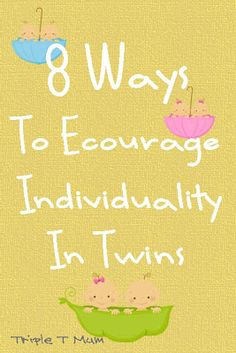 8 Ways To Encourage Individuality of Twins shared by www.twinsgiftcompany.co.uk