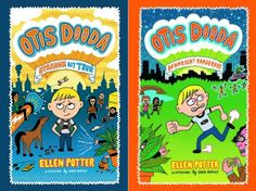 Otis Dooda: Strange But True & Otis Dooda: Downright Dangerous by Ellen Potter, illustrated by David Heatley (Otis Dooda on Mr. Pig Live! The Little Crooked Cottage)