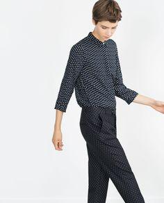Image 4 of POLKA DOT SHIRT from Zara