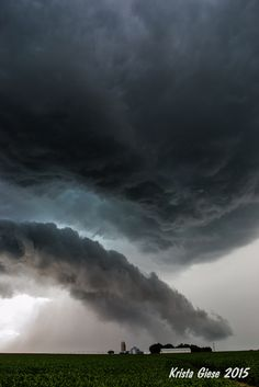 Ominous clouds in Nebraska. USA. By Krista Giese.