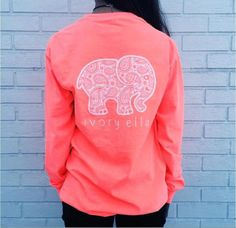 eb439b8d1 Long Sleeve Elephant and Letter Print T-Shirt Elephant Print