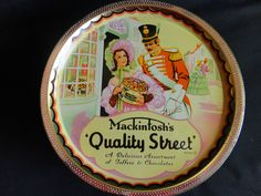 """Candy Made In The 1950S   VINTAGE Candy Tin 1950s """"Mackintosh's - Quality Street"""" Toffees and ..."""