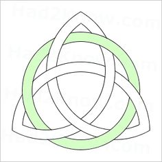 how to draw a triquetra symbol, aka trinity knot.Pagan, Wiccan, and Celtic knot symbols. Celtic Symbols, Celtic Art, Celtic Trinity Knot, Triquetra, Celtic Designs, Wiccan, Tatting, Knots, Mandala