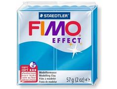 The FIMO Effect Translucent Blue Modelling Clay 57g from the modelling materials range is designed to be used with FIMO Professional, Soft and Kids modelling clays to achieve special effects.