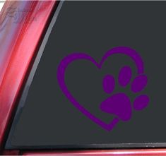 3M Reflective Vinyl Plymouth Heart Decals