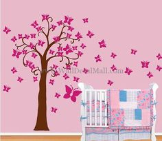 Butterfly Tree Wall Decals – WallDecalMall.com