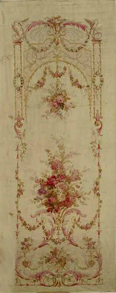 Vintage - Aubusson Napoléon III - I want this for my hallway! Decoupage, Papier Paint, Aubusson Rugs, French Decor, Chinoiserie, Kitsch, Dollhouse Miniatures, Painted Furniture, Stencils