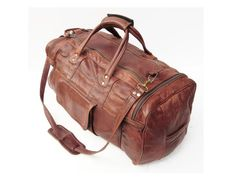 leather duffle bag 24 travel bag weekender by TheAtomicAttic, $78.00
