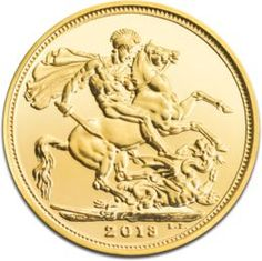 Full Sovereign Elizabeth, Gold, 2013  The more modern Sovereign gold coins have been minted beginning with 1817. That was the year when the monetary reform decided that this British gold coin should replace the Guinea. The Sovereign became legal in the United Kingdom with the face value of one pound sterling but in practice these gold coins are regarded as bullion gold coins sought after by investors, collectors, coins enthusiasts, and historians alike.