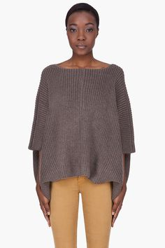 Marc By Marc Jacobs Dark Taupe Filipa Knit Poncho