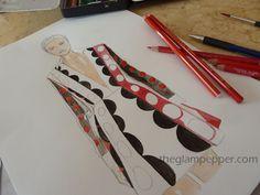 fashion sketch, fashion illustration #maisonValentino, #draw #drawing #glam @the glam pepper