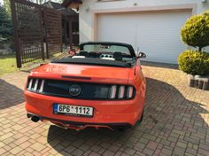 2016 Ford Mustang GT EU spec convertible in competition orange w/ new Borla S - Type Catback Black tips