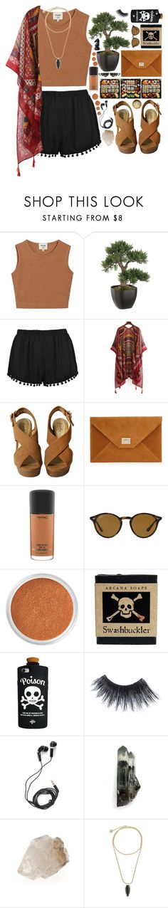 """Swashbuckler"" by ladyvalkyrie ❤ liked on Polyvore featuring Samuji, MAC Cosmetics, Ray-Ban, Bare Escentuals, Jura, Valfré, MAKE UP FOR EVER, DEOS and Kendra Scott"